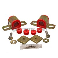 Energy Suspension 95-98 240SX Sway Bar Bushing Set Red Front Bar Dia. 27mm Incl. Sway Bar End Links/New Brackets