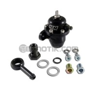 AEM Black Adjustable Fuel Pressure Regulator Inline Flange with 90 Degree Return Line Fitting B18A1/C30/C32/H22/H23