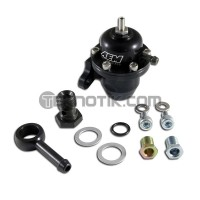 AEM Billet Adjustable Fuel Pressure Regulator Offset Flange with 90 Degree Return Line Fitting D16Y8/F22