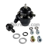 AEM Billet Adjustable Fuel Pressure Regulator OffSet Flange with Straight Return Line Fitting D16Y7/Y5 F22/F23 F20C/F22C