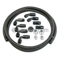 SpeedFactory B-Series Catch Can Hose & Fitting Kit With Crankcase Pressure Port Fitting