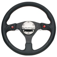 NRG 320mm Sport Leather Steering Wheel w/ 2 Button