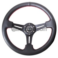 NRG 350mm Sport Steering Wheel Black Leather