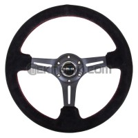 NRG 350mm Sport Steering Wheel Black Suede