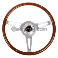 NRG 365mm Classic Wood Grain Steering Wheel