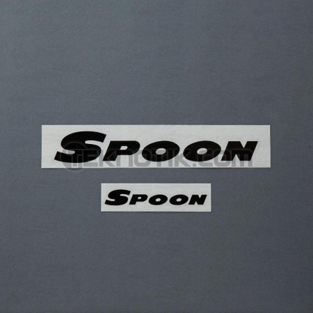 Spoon Team Sticker Black
