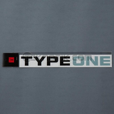 Type One Logo Sticker